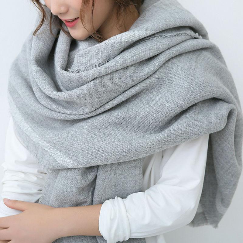 Winter Solid Scarf Women Cashmere Blendss