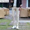 DEE MOONLY Diseño de Moda Los Pantalones Ocasionales de Negocio Del Mens Stretch Chino pantalones De Los Hombres Pantalones de Vestir 7 Color Plus Tamaño Pantalon casa