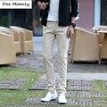 DEE MOONLY Mens Business Casual Calças Designer de Moda Estiramento Chino calças Para Homens Vestem Calças 7 Color Plus Tamanho Pantalon casa