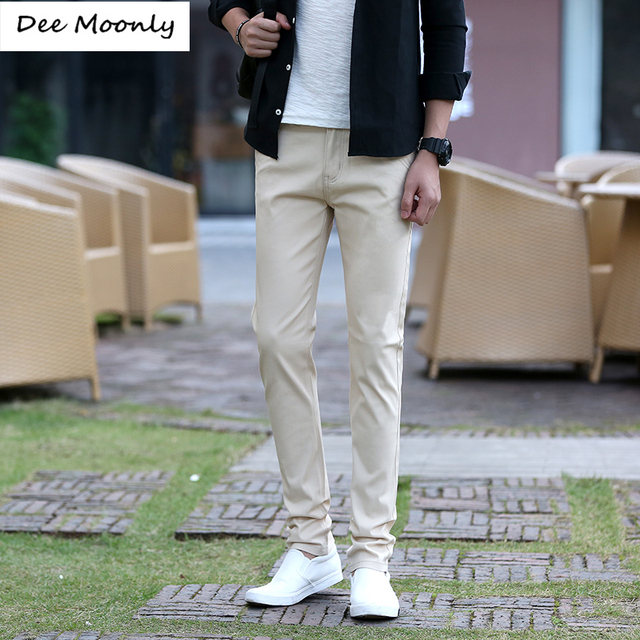 DEE MOONLY Mens Business Casual Pants Designer Fashion Stretch Chino Pants For Men Dress Pants 7 Color Plus Size Pantalon Home