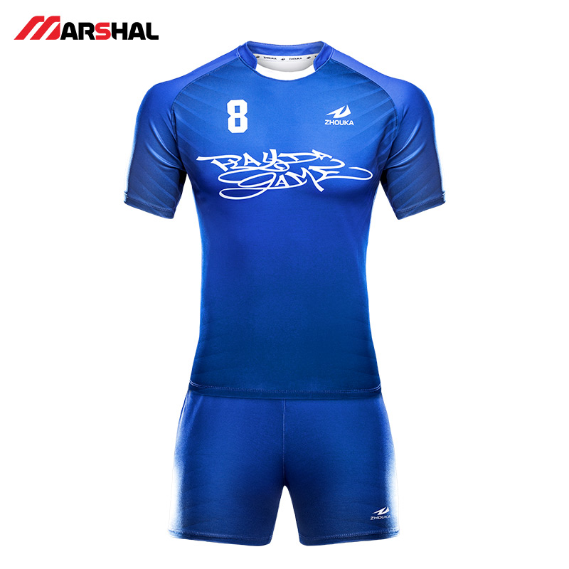 Wholesale Rugby Uniform Set For men women Polyester Breathable sublimated custom rugby sweatshirts long sleeve jersey