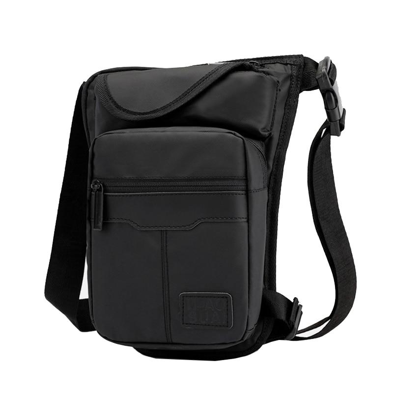 Nylon Men Drop Leg Bag High Quality Waterproof Fanny Pack Motorcycle Male Hip Pocket Thigh Bag Casual Cross Body Waist Belt Bags
