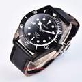 41 мм corgeut черный циферблат белые отметки PVD Дата корпуса  сапфировое стекло автоматические мужские часы