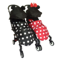 Micky Minnie footmuff leg cover for poussette baby yoya stroller cartoon design mountain buggy nano baby throne