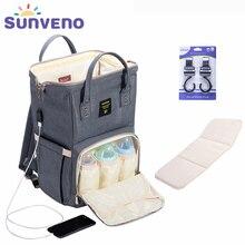 SUNVENO Fashion Mummy Maternity Diaper Bag Large Nursing Bag Travel Ba