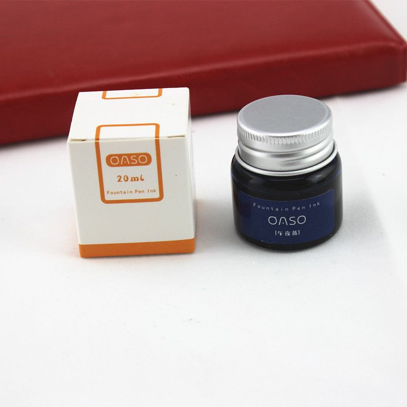 Fountain Pen ink bottled 20ML 9 colors portable pen ink quality is not hurt penFountain Pen ink bottled 20ML 9 colors portable schneider 6pcs supplementary ink pen ink sac ink ink gall bladder boxed portable recycle