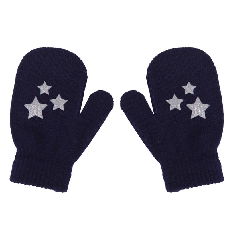 Soft Knitting Warm Wrist Gloves Mittens Kids Dot Star Heart Pattern Children Fashion Lovely Hot Gloves 2017 Winter Boys Girls