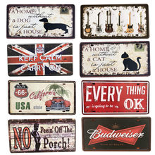 Motor Oil Plaque Vintage Metal Flag Signs Home Bar Pub Garage Cat Dog Decorative Iron Plates Wall Stickers Art Poster(China)