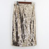 Skirts Top Direct Selling European And American Women's Free Shipping 2019 High Waist Sequins Hip Skirt In The Elastic Zip