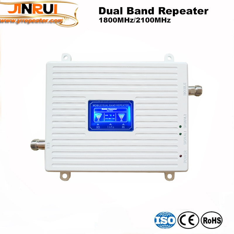 LCD Display UMTS 3G 2100 4G 1800 Mhz Dual Band Repeater GSM 4G LTE Phone Amplifier Mobile Cellular Signal Booster 3g 4g