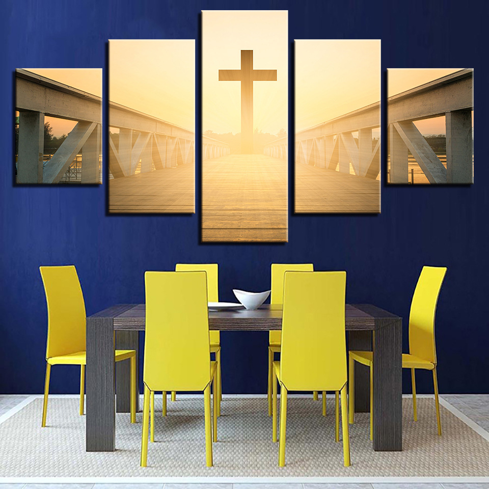 Wall Art Basic Christian Beliefs Jesus Canvas Printed Modern ...