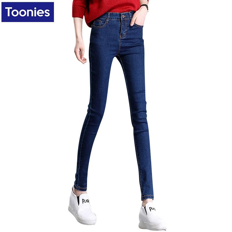 Women Jeans Autumn Fashion Pencil Jean Woman Blue Black Jeans High Waist Full Length Zipper Slim Fit Skinny Pants Jeans Feminino new autumn jeans woman high waist jean