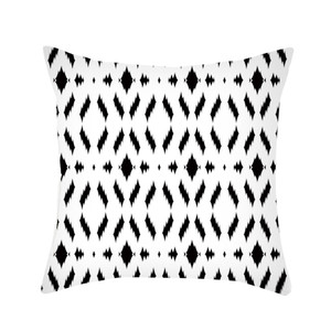 Image 5 - Black & White Geometric Throw  Pillow Cover Soft Comfortable Pillow Covers Square Cushion Case For Sofa Bedroom Car 2019 New