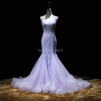 YNQNFS ED68 Robe Beaded Lilac Mermaid Long Party Formal Night Gowns Dress Elegant Vestidos de Fiesta Largos Elegante de Gala
