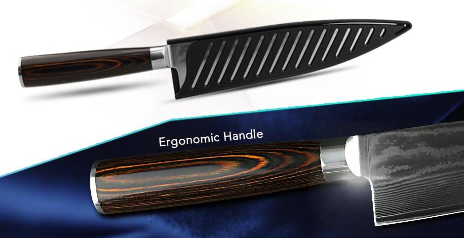 Chef Knife Ergonomic Handle