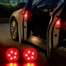 2 шт. Магнитная 3 светодиодный 5 светодиодный светодиодные на дверь автомобиля Открытие Предупреждение лампа безопасно вспышки света Водонепроницаемый Беспроводной анти Collid световой сигнал Voitu
