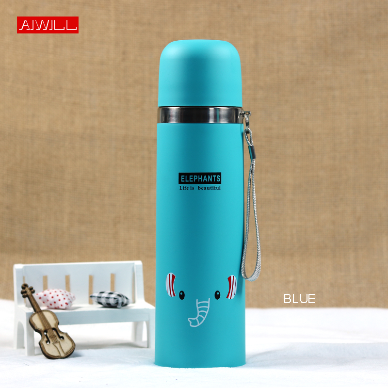 AIWILL 500ML/350ml Lovely Animal Pattern Vacuum Thermos For Women Kids water Bottle Stainless Steel Bullet garrafa termica Child Термос