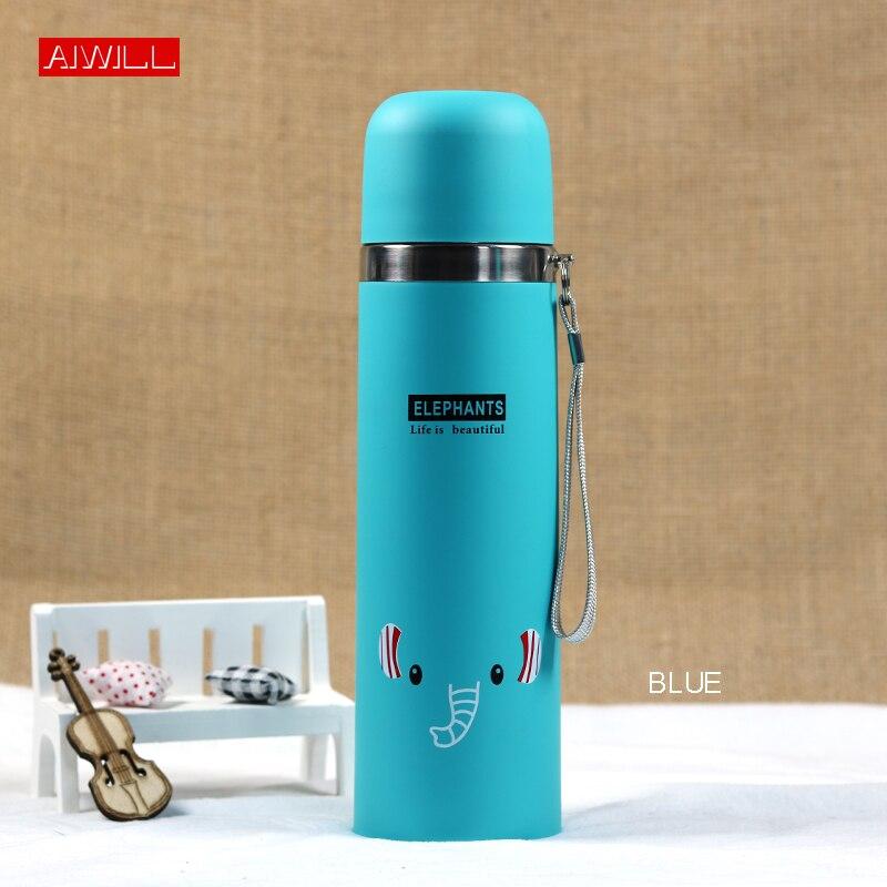 Aiwill 500 ml/350 ml adorável padrão animal vácuo garrafa térmica para crianças garrafa de água de aço inoxidável bala garrafa termica criança