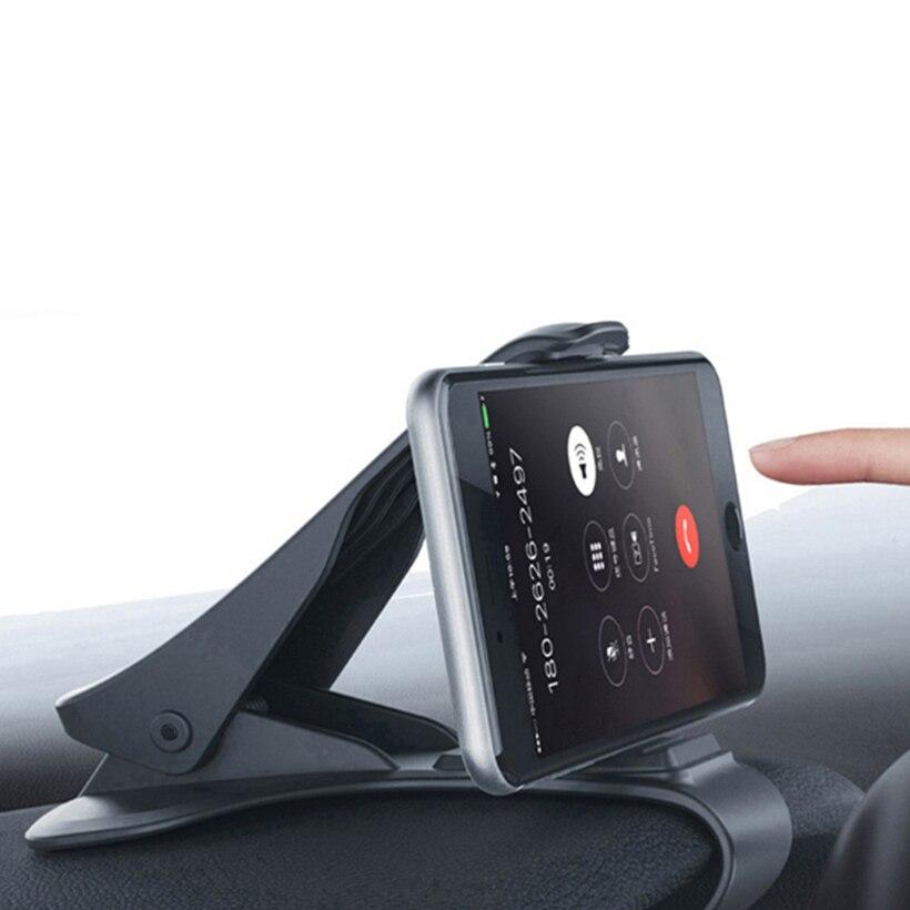 Car Phone Holder Stand Adjustable Clip Dash Board Soft Anti Slip Mobile Phone Holder GPS Bracket For IPhone Samsung Huawei