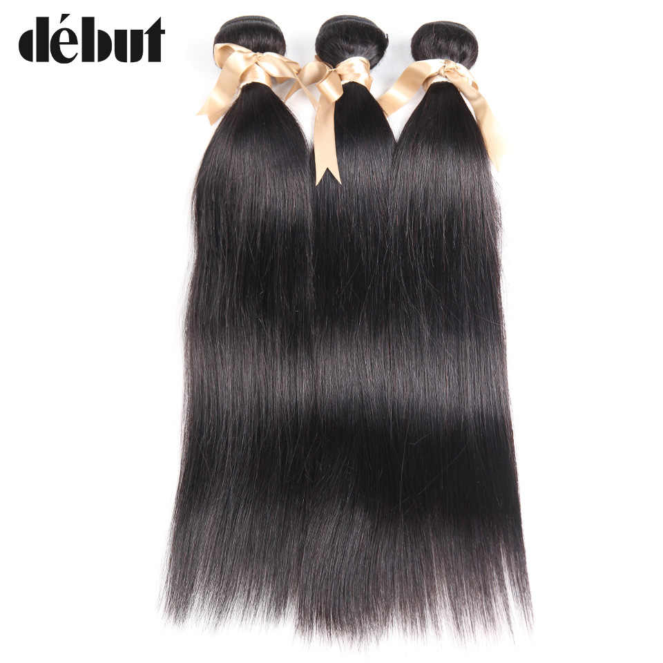 Дебютный Бразильский пучок волос 3 пучка 8 до 26 дюймов натуральный темный цвет 100% человеческие волосы для наращивания пучки для женщин