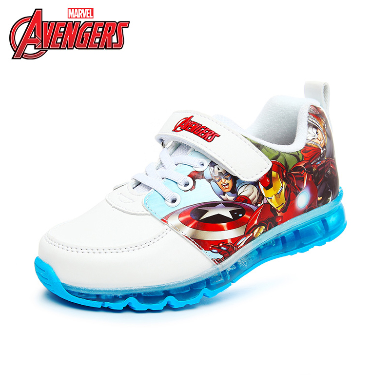 Disney Children Casual Shoes With Light LED Cartoon Boys  Flash Sneakers Kids Luminous Sport Shoes Breathable Size26-31 DS2606 2017 new children led sport shoes breathable sneakers orthopedic unisex anti skid light shoes kids casual shoes for girls boys