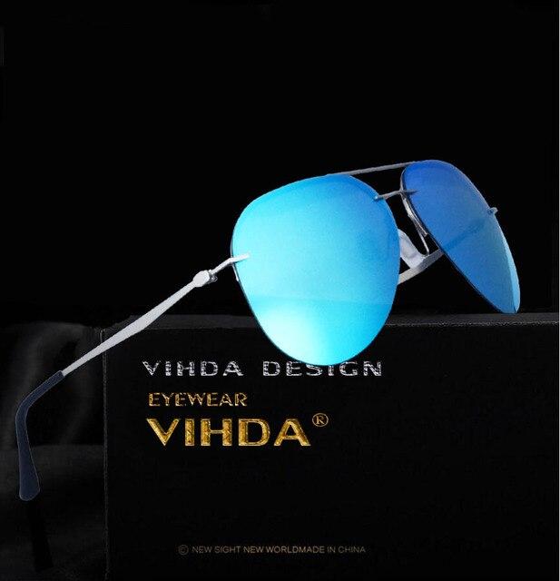 29c39b9bd87e2 VIAHDA Polarizada Retro Liga Homem Luxo Motorista óculos de Sol Masculinos  Pesca Esportiva Óculos De Sol
