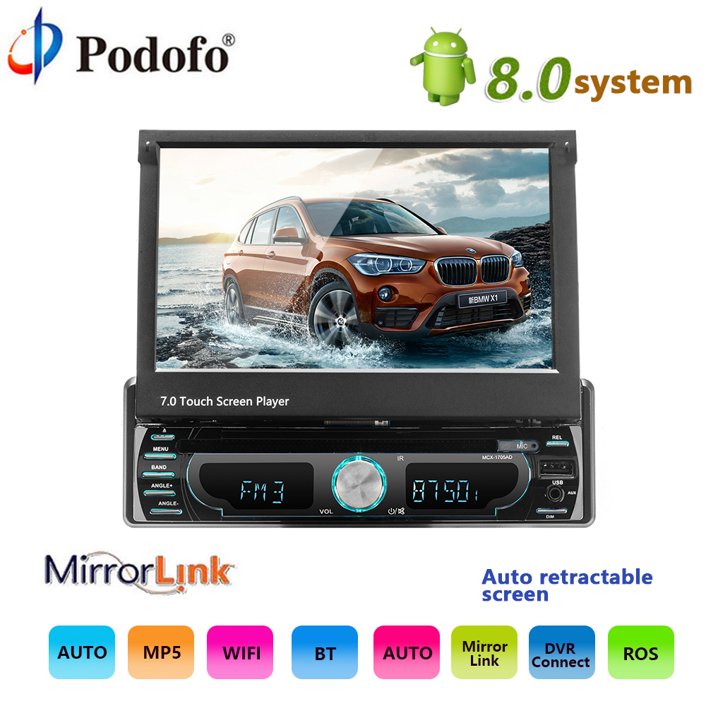 podofo 10 1 1 din android multimedia player wifi car. Black Bedroom Furniture Sets. Home Design Ideas
