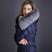 2016 new hot winter Thicken Warm woman Down jacket Coat Parkas Outerwear Hooded fox long plus size 3XXXL luxurious Slim