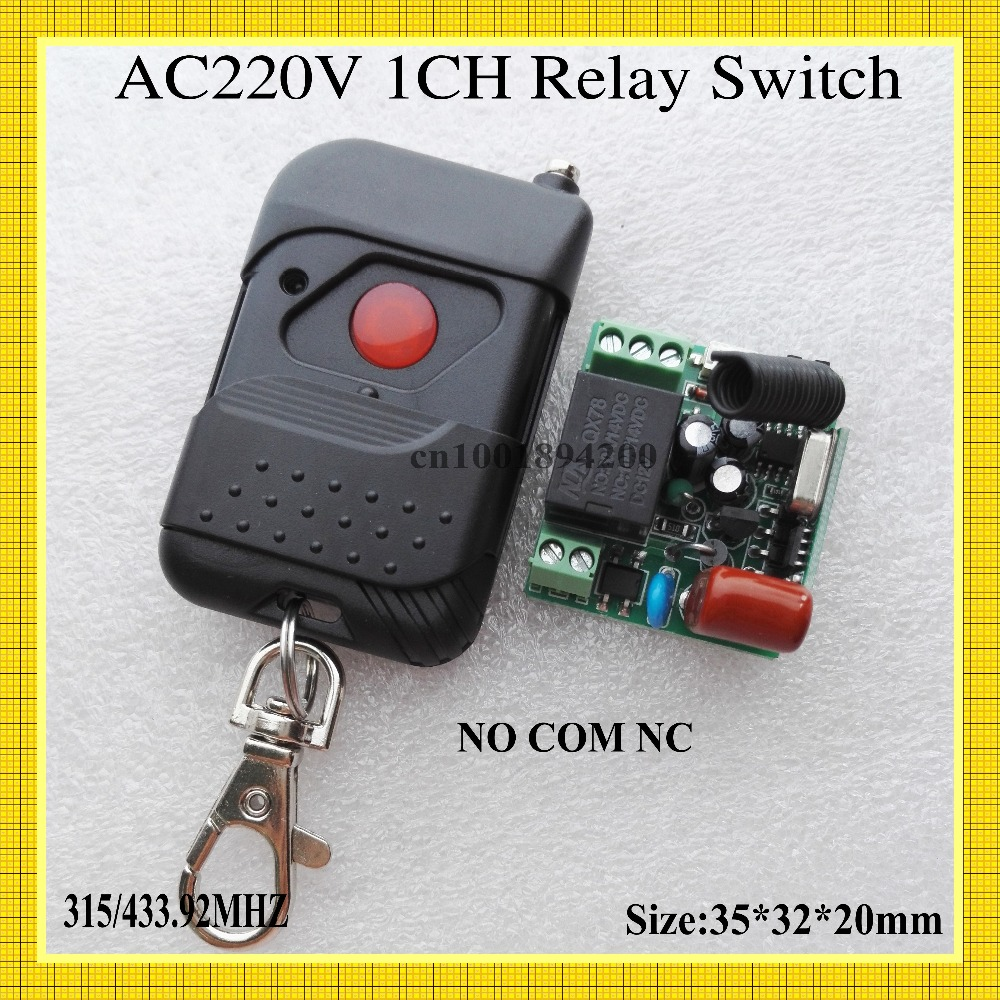 Relay Remote Switch AC 220V 1 Channel Wireless Switch NO COM NC Switching Value Power Remote Controller Learning Code Toggle RF dc 12v relay remote switch no com nc contact wireless switch 2a relay rf rx normally open close lithium aaa battery supply ask
