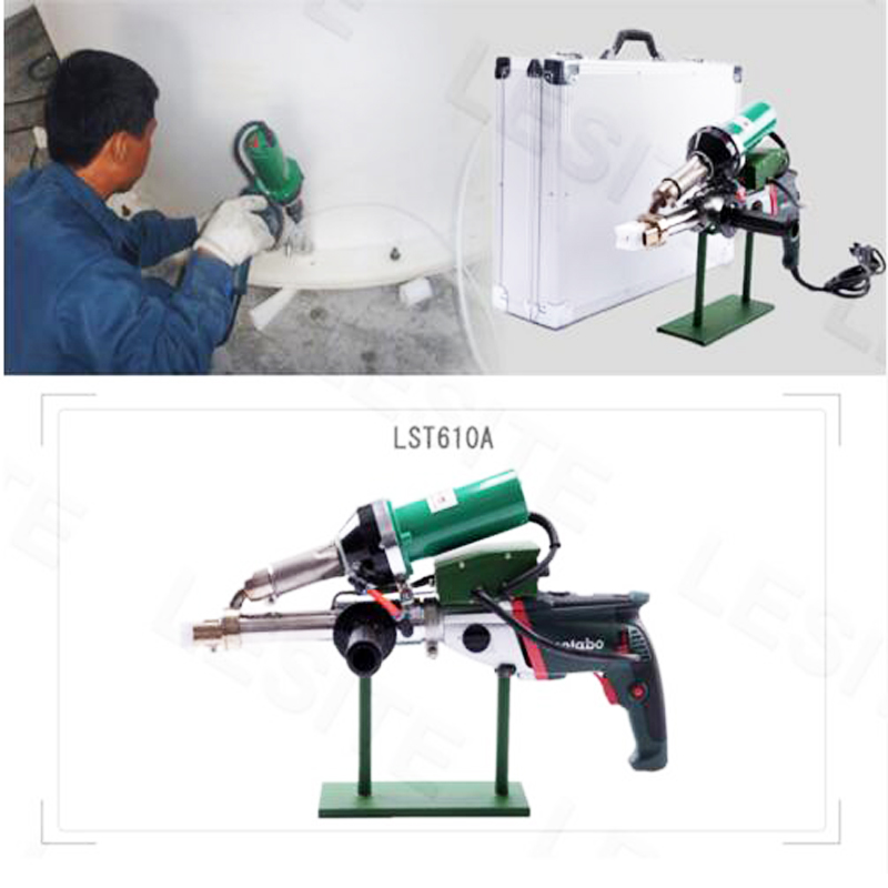 Hot Air Welding Machine Pipeline Portable Extrusion Type Plastic Welding Torch Machine Welding Rod Hot Melting Machine LST610A