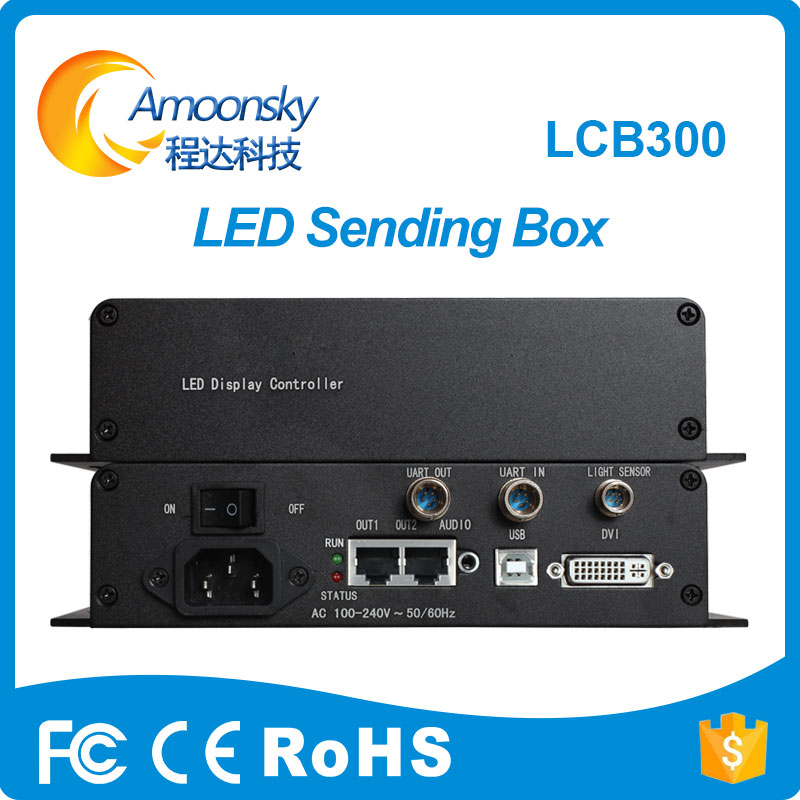 LCB300 External Sender Box With Novastar MSD300 Sending Card And Meanwell Power Supply installed For Indoor LED Video DisplayLCB300 External Sender Box With Novastar MSD300 Sending Card And Meanwell Power Supply installed For Indoor LED Video Display