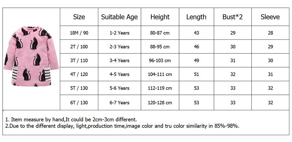 1-7 Years Kids Girl Dress Toddler Baby Long Sleeve Dresses Summer Children Clothing Girls Cotton Princess Dress Kid Tops Outfits