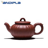 150cc Authentic Yixing Teapot Palace Lantern Pot Chinese Healthy Purple Clay Gong Deng Pot Handmade Tea Set Vintage Zisha Kettle