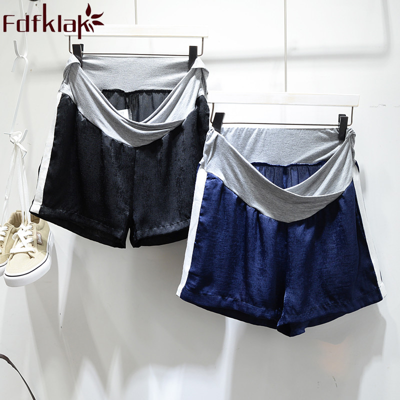 Fdfklak 2018 Summer Maternity Shorts Low Waist Shorts Maternity Clothes For Pregnant Women Clothing Prop Belly Pants F275