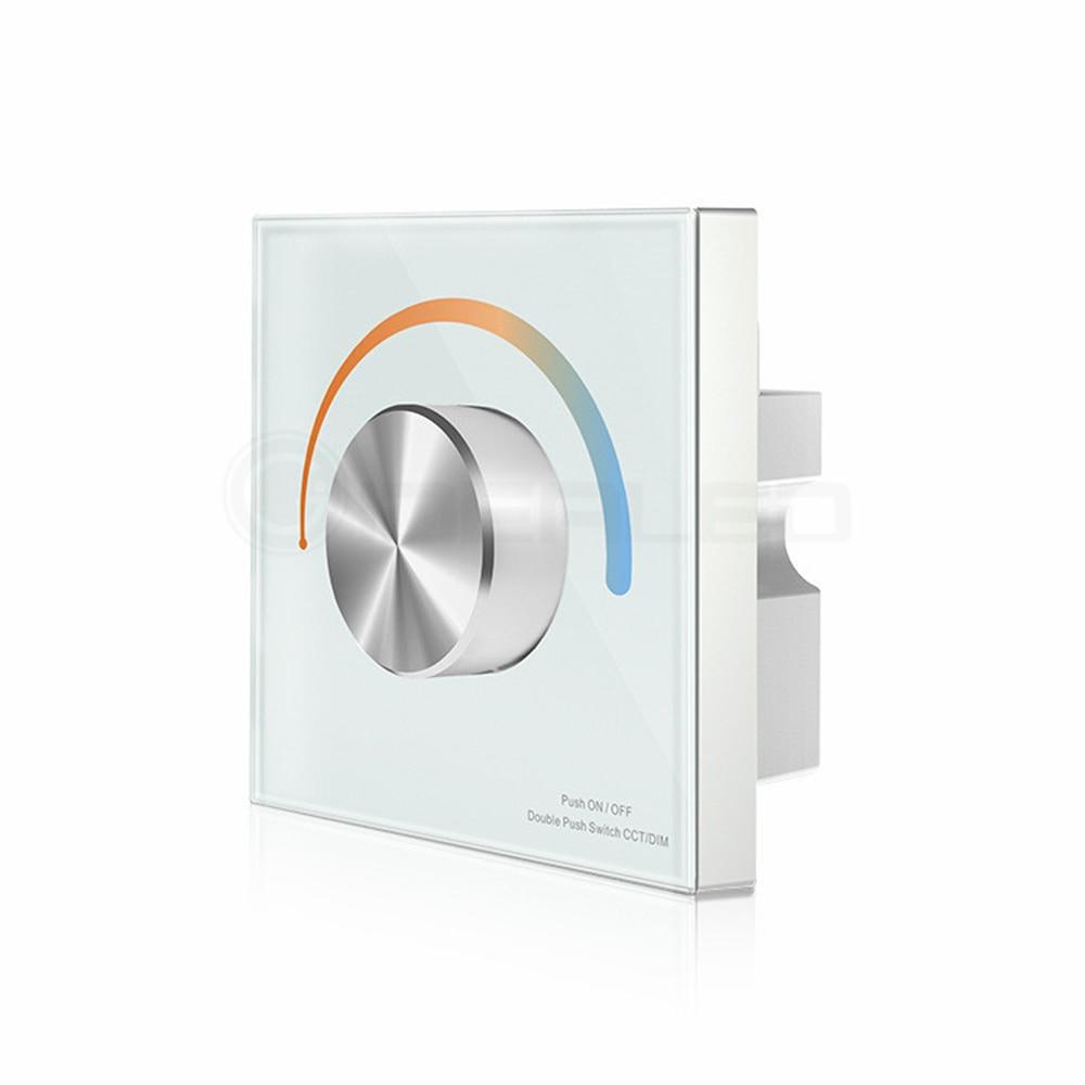Dimmer Knob Touch LED Nəzarətçi Dönüşlü Divarda Panelə - İşıqlandırma aksesuarları - Fotoqrafiya 3