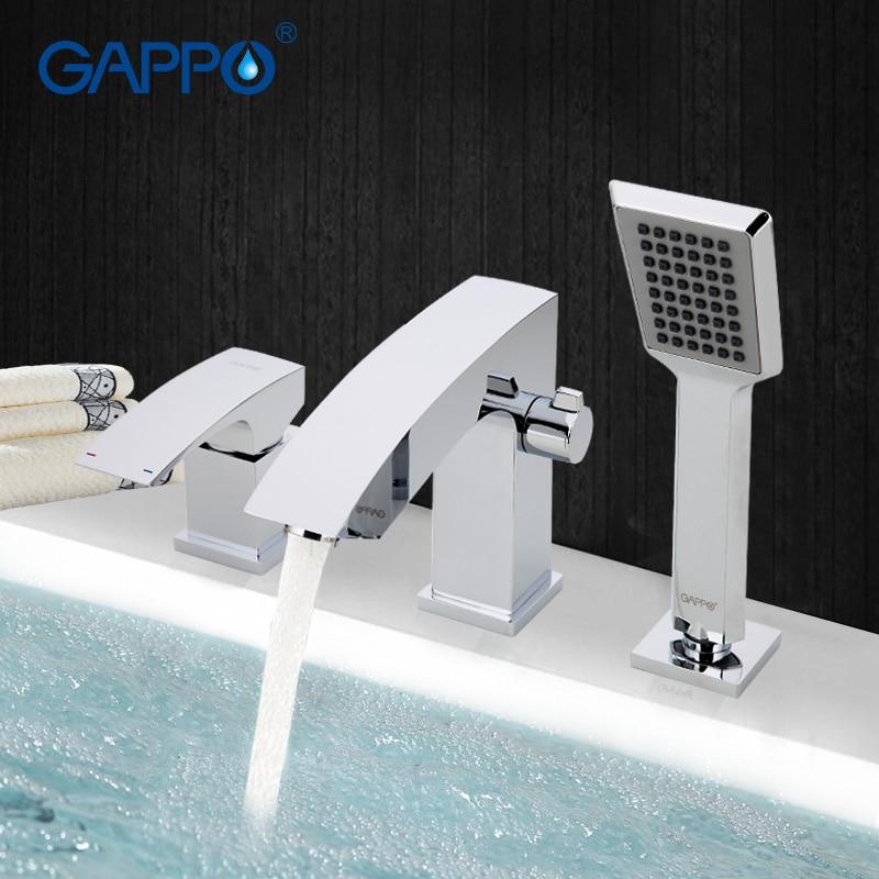 GAPPO banho de chuveiro do banheiro torneira do chuveiro Torneira Da Banheira Torneira chuveiro cachoeira torneira da pia do banheiro misturador de água pia tapsGA1107