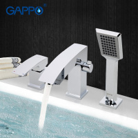 GAPPO1set Bathroom Shower Fixture Bathtub Faucet Tap Waterfall Bathtub Sink Faucet Mixer Restroom Sink Tap Shower