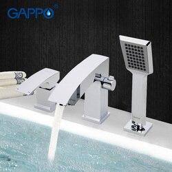 Gappo torneira do chuveiro do banheiro torneira da banheira torneira do chuveiro banho conjunto cachoeira banheira pia misturador de água da pia tapsga1107