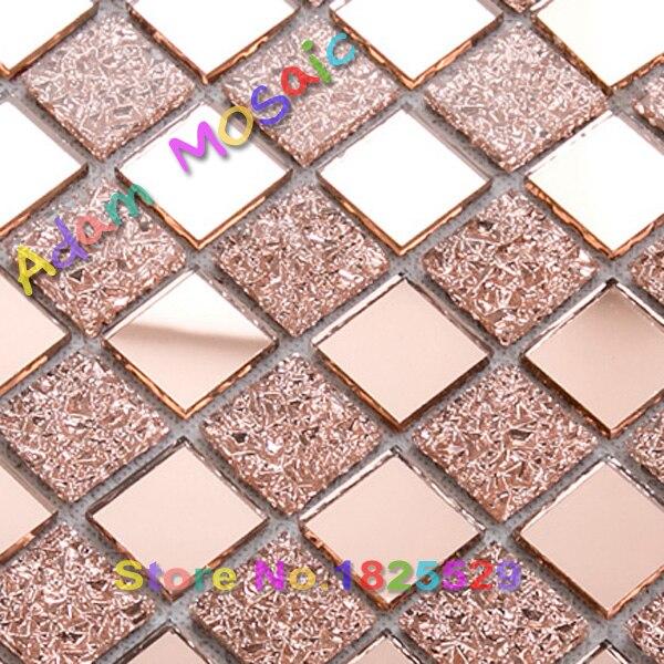pink glass mosaic tiles kitchen backsplash cheap mirror glass tiles ...