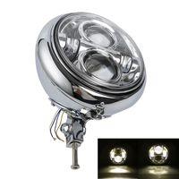 7 LED Headlamp Housing Bulb Bucket Assembly For Harley Heritage Softail Fatboy FLST FXST FLSTF 86 11
