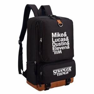 Image 3 - WISHOT Fremden Dinge rucksack schul für jugendliche Schule Taschen reise Casual Laptop Taschen Rucksack Leucht