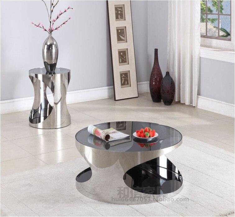 Elegante minimalista tavolino salotto moderni in acciaio - Mobili in vetro ikea ...