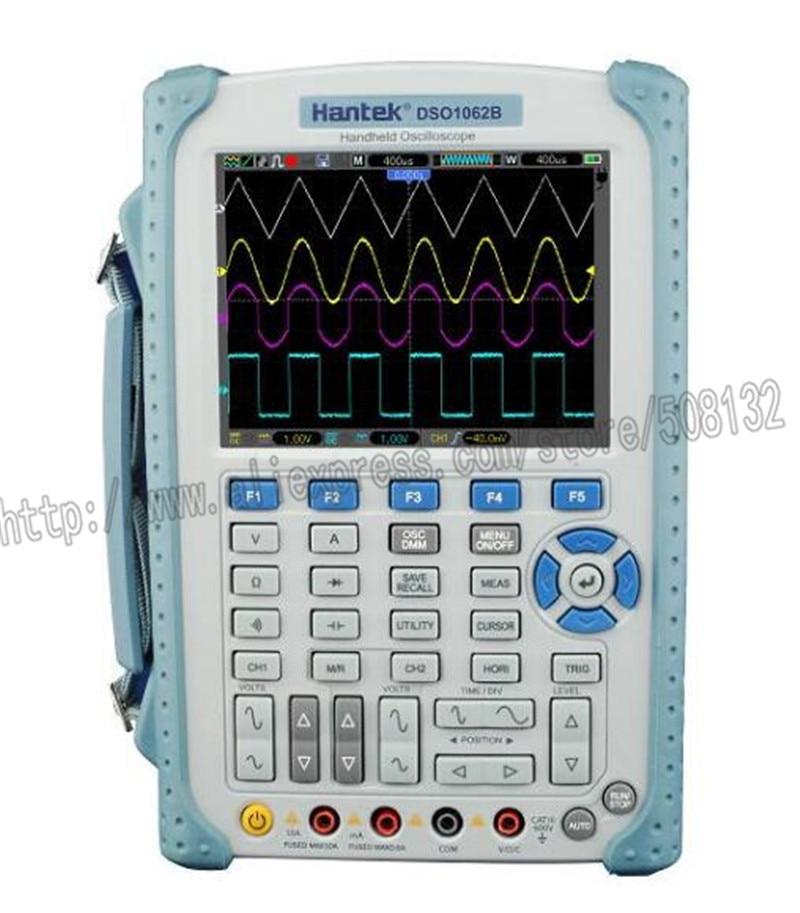 Hantek DSO1062B 60MHZ 2 Channels Handheld Oscilloscope 1M Memory Depth DMM with analog bargraph