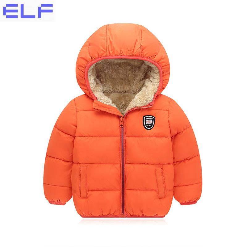 Kids Winter Jacket Thick Velvet Girls Boys Coat Warm Children Jackets Cotton Infant Clothing Padded Jacket Kid Clothes