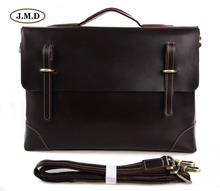 J.M.D New Arrivals Genuine Vintage Leather Brown Men's Briefcase Laptop Bag Shoulder Bag Fashion Men's Handbag 7228Q