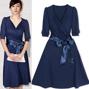 2013 Autumn Luxury Half Sleeve Elegant Long V Neck Design One Piece Women S Dress Designer Dress Wholesale Dress Leedesign Provider Aliexpress