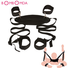 Sex Games Accessories Bed bdsm Bondage Restraints Neck Ankle HandCuff Straps Erotic sex Products Bandage Sex Toys for Couples O3