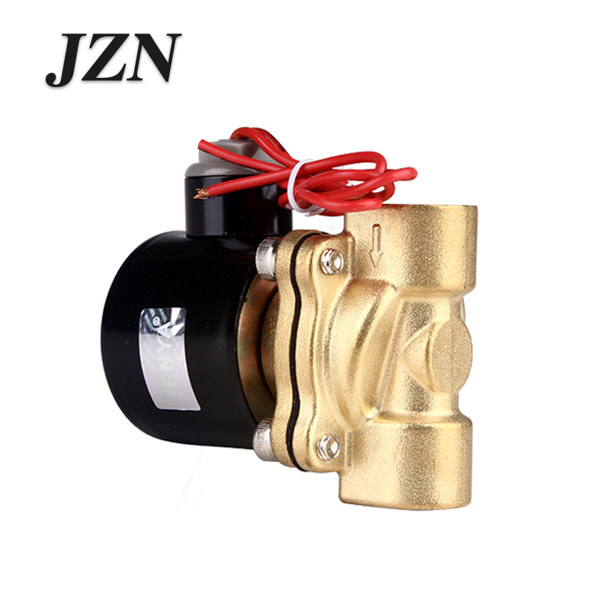 цена на Free shipping 160-15 copper 4 points (1/2'') AC220V DC24V Pressure Electric Diaphragm Solenoid Valve Normally closed