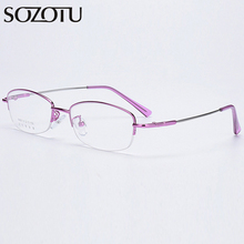 SOZOTU Optical Eyeglasses Frame Women Computer Prescription Memory Glasses Spectacle Frame For Female Clear Lens Eyewear YQ596