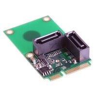 Expansion Card 2 Port SATA 6G Mini PCI Controller Card PCI E To SATA3 0 2